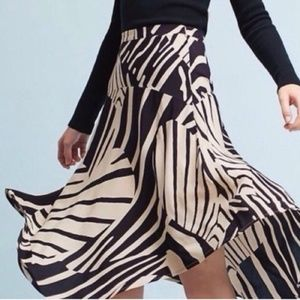 NWT MaEve | 2 Zebra Heart Ava Skirt Anthropologie